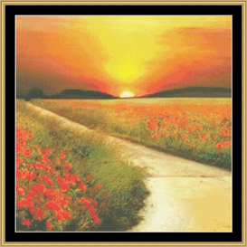 Golden Sunset | Crafting | Cross-Stitch | Other
