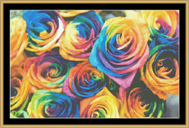 Rainbow Roses | Crafting | Cross-Stitch | Other
