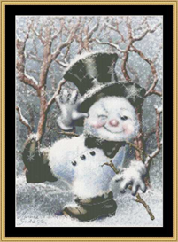 Dancing Snowman - Maxine Gadd | Crafting | Cross-Stitch | Other