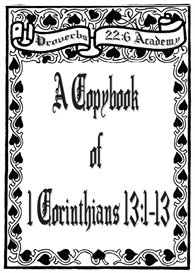 A Copybook of 1 Corinthians 13:1-13 | eBooks | Education