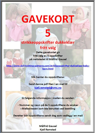 Gavekort 5 oppskrifter | Other Files | Arts and Crafts