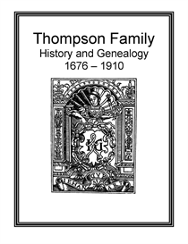Thompson Family History and Genealogy | eBooks | History