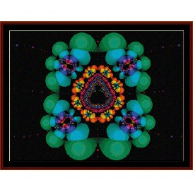 Fractal 176 cross stitch pattern by Cross Stitch Collectibles | Crafting | Cross-Stitch | Wall Hangings