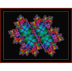 fractal 185 cross stitch pattern by cross stitch collectibles