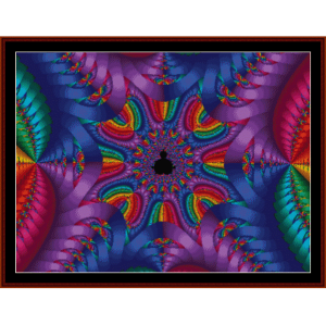 fractal 193 cross stitch pattern by cross stitch collectibles