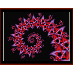 Fractal 195 cross stitch pattern by Cross Stitch Collectibles | Crafting | Cross-Stitch | Wall Hangings