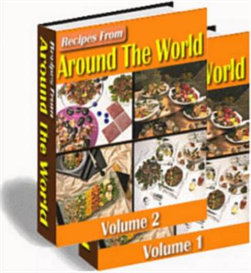 recipes from around the world ebooks | 2 volumes | plus master resell rights