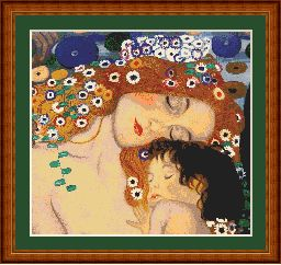 Klimt Mother and Child Cross Stitch | Other Files | Arts and Crafts