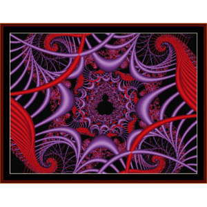 Fractal 201 cross stitch pattern by Cross Stitch Collectibles | Crafting | Cross-Stitch | Wall Hangings