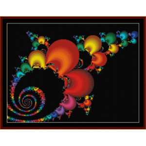 fractal 205 cross stitch pattern by cross stitch collectibles
