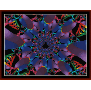 fractal 208 cross stitch pattern by cross stitch collectibles