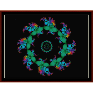 Fractal 216 cross stitch pattern by Cross Stitch Collectibles | Crafting | Cross-Stitch | Wall Hangings