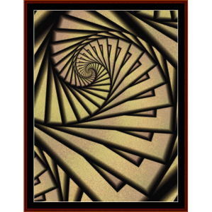 fractal 232 cross stitch pattern by cross stitch collectibles