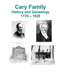 Cary Family History and Genealogy | eBooks | History