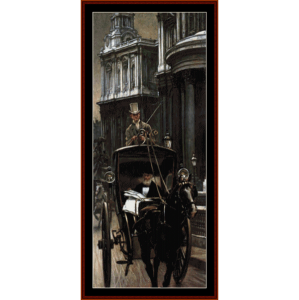 going to business - tissot cross stitch pattern by cross stitch collectibles