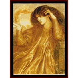 la donna della fiamma - rossetti cross stitch pattern by cross stitch collectibles