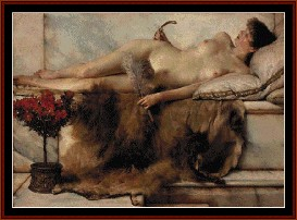 The Tepidarium - Alma Tadema cross stitch pattern by Cross Stitch Collectibles | Crafting | Cross-Stitch | Wall Hangings