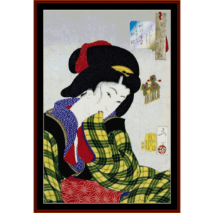 Ukiyo-e 3 - Asian Art cross stitch pattern by Cross Stitch Collectibles | Crafting | Cross-Stitch | Wall Hangings