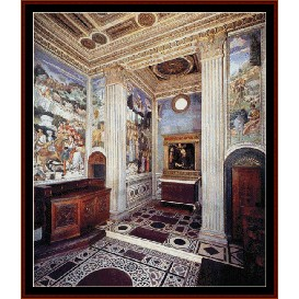View of the Chapel - Gozzoli cross stitch pattern by Cross Stitch Collectibles | Crafting | Cross-Stitch | Religious
