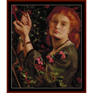 Hanging Mistletoe - Dante Rossetti cross stitch pattern by Cross Stitch Collectibles | Crafting | Cross-Stitch | Wall Hangings