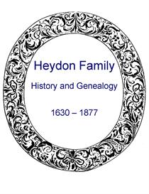 Heydon Family History and Genealogy | eBooks | History