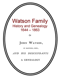 Watson Family History and Genealogy | eBooks | History