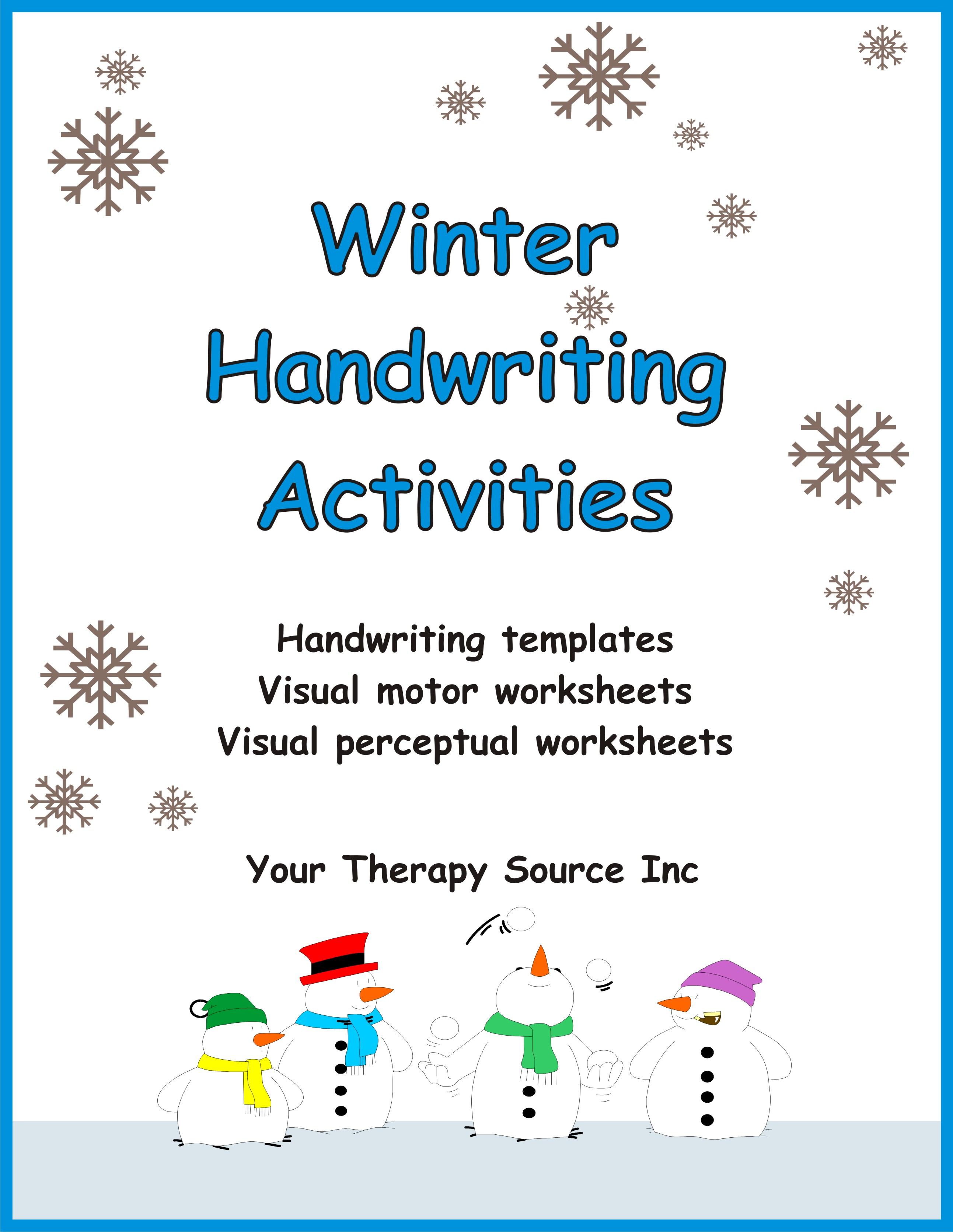 winter handwriting activities ebooks education. Black Bedroom Furniture Sets. Home Design Ideas