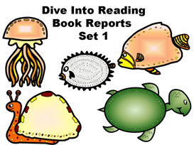 Set 1:  Dive Into Reading Book Report Fish | Other Files | Documents and Forms