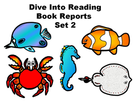 Set 2:  Dive Into Reading Book Report Fish | Other Files | Documents and Forms