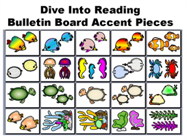 Dive Into Reading Bulletin Board Accent Pieces | Other Files | Documents and Forms