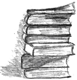 stack of books - photoshop