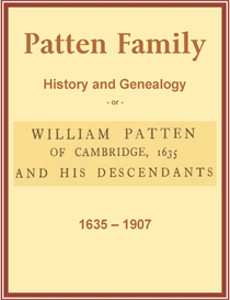 Patten Family History and Genealogy | eBooks | History