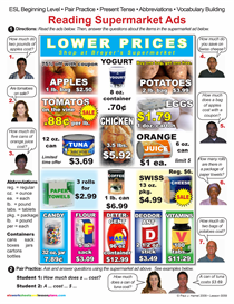 Esl / Reading Supermarket Ads | Other Files | Documents and Forms