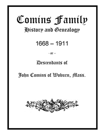 Comins Family History and Genealogy | eBooks | History