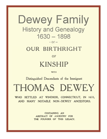 Dewey Family History and Genealogy | eBooks | History