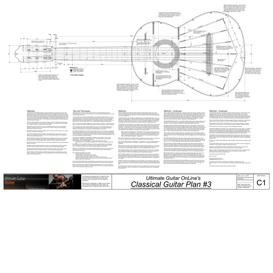 Classical3 Guitar Plans | Other Files | Patterns and Templates