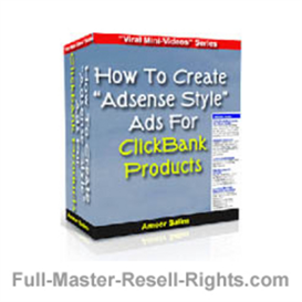 create adsense style ads for click bank! with full master resale right