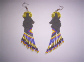 Brick Stitch Wolf Delica Seed Beading Fringe Earring Patterns | Other Files | Arts and Crafts