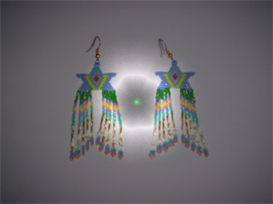 Brick Stitch Star Delica Seed Beading Fringe Earring Pattern | Other Files | Arts and Crafts
