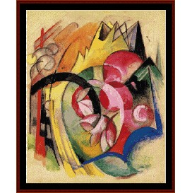 Abstract Form - Franz Marc cross stitch pattern by Cross Stitch Collectibles | Crafting | Cross-Stitch | Wall Hangings