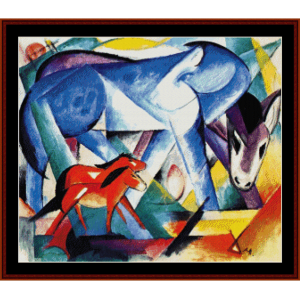 First Animals - Franz Marc cross stitch pattern by Cross Stitch Collectibles | Crafting | Cross-Stitch | Wall Hangings