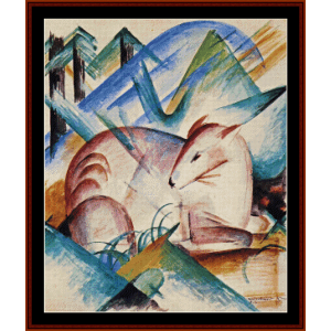 Red Deer - Franz Marc cross stitch pattern by Cross Stitch Collectibles | Crafting | Cross-Stitch | Wall Hangings
