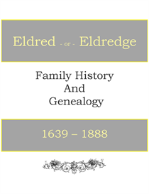 Eldred Eldredge Family History and Genealogy | eBooks | History