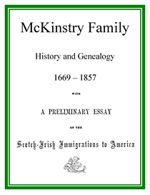 McKinstry Family History and Genealogy | eBooks | History