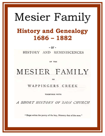 Mesier Family History and Genealogy | eBooks | History