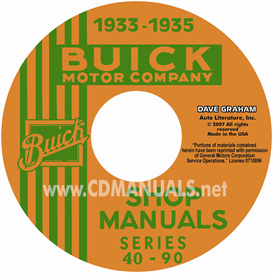 1933-1935 buick shop manuals - all models