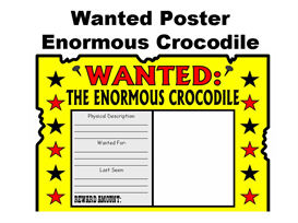 Wanted Poster Enormous Crocodile | Other Files | Documents and Forms