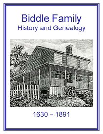Biddle Family History and Genealogy | eBooks | History