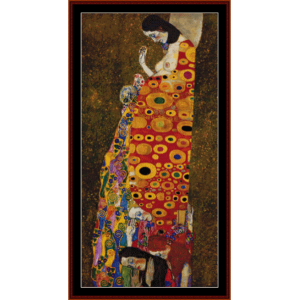 hope ii - klimt cross stitch pattern by cross stitch collectibles