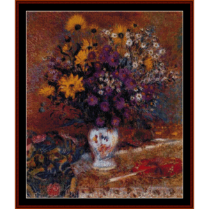 Vase of Flowers, Lemmen cross stitch pattern by Cross Stitch Collectibles | Crafting | Cross-Stitch | Wall Hangings